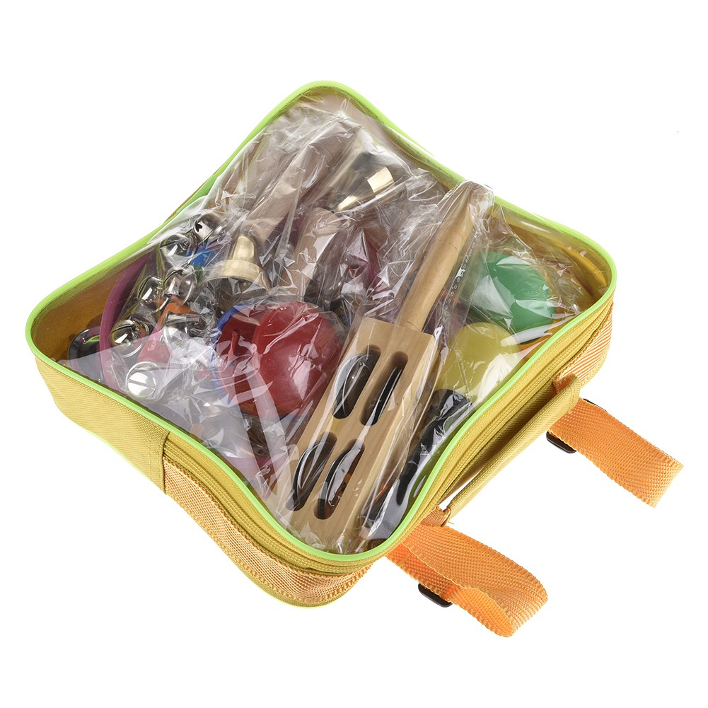 16 PCS Musical Instrument Orff Percussion Instrument Toy Percussion Set