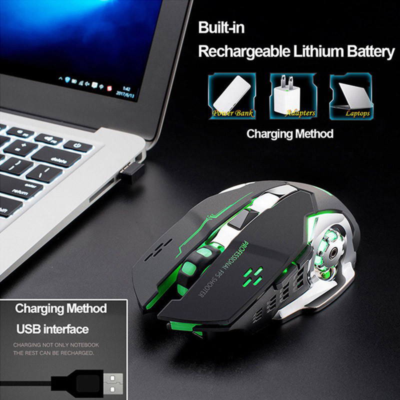 【YUKV】2.4GHz Optical Wireless Mouse with USB Receiver for PC/laptop