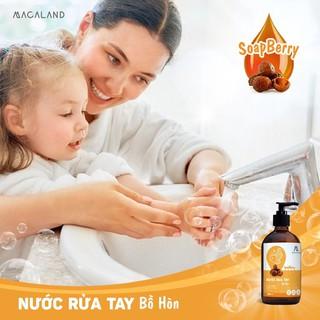 Nước rửa tay diệt khuẩn chiết xuất trái Bồ Hòn và tinh dầu Chanh nguyên chất 500ml Julyhouse-4