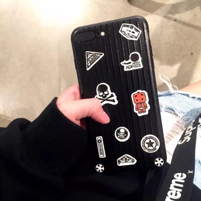 Ốp Vali iPhone Bản Mini (Tặng kèm 10 stickes 200 hình