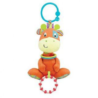 Đồ chơi thú bông xúc xắc hình hươu treo xe đẩy cho bé 0117 – kích thích thị giác, tư duy màu sắc cho trẻ sơ sinh