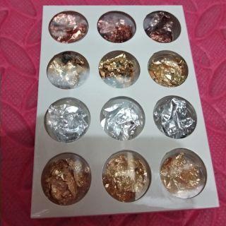 Sét giấy vàng giấy bạc 4 màu trang trí móng sét 12 ô. Phù hợp trang trí móng ẩn móng nổi cực đẹp móng thumbnail