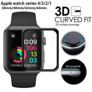 Tấm bảo vệ màn hình bằng kính cường lực của Apple Watch 38/40/42/44mm Full Cover cong 3D cho iWatch Series 1/2/3/4/5/6 SE