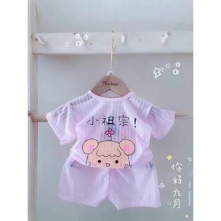 Bộ cotton giấy cộc tay cho bé từ 4-15kg, hàng đẹp loại 1