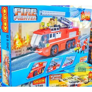LEGO Lắp Ráp Xe Thang Cứu Hỏa ( 424 Miếng )