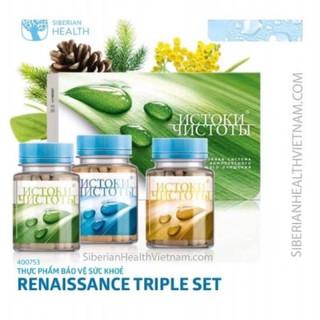 Thực phẩm bảo vệ sức khỏe Renaissance Triple Set Siberi Nga