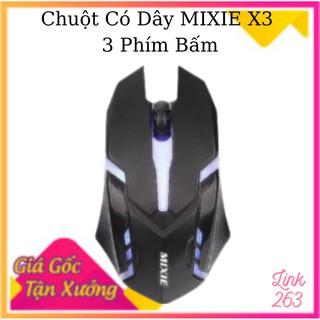 Chuột Game có dây MIXIE X3 - 3 phím bấm -Hàng chính hãng 100%- Bảo hành 12 tháng - Cam kết chất lượng cao thumbnail
