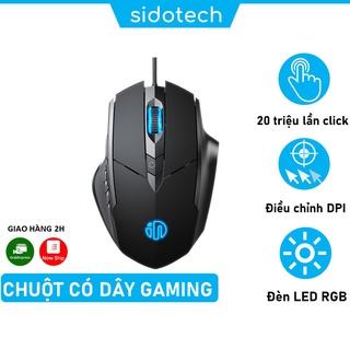 Chuột gaming chơi game máy tính SIDOTECH Inphic P1W Esport có dây silent 4000 DPI Led RBG phù hợp laptop PC vi tính thumbnail