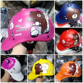 Mũ Bảo Hiểm Hello Kitty Nữ Thời Trang  CÓ LỖ ĐỂ TÓC  Kiều Dáng Thời Trang Năng Động