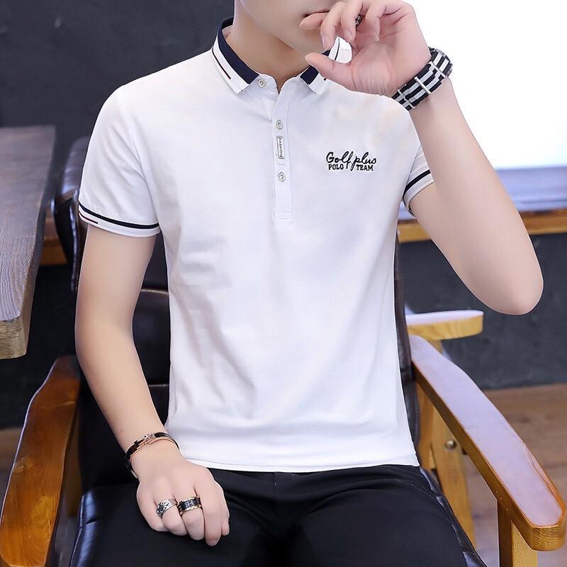 Áo thun nam đẹp mẫu mới áo thun ngắn tay có cổ 3 màu GOLF