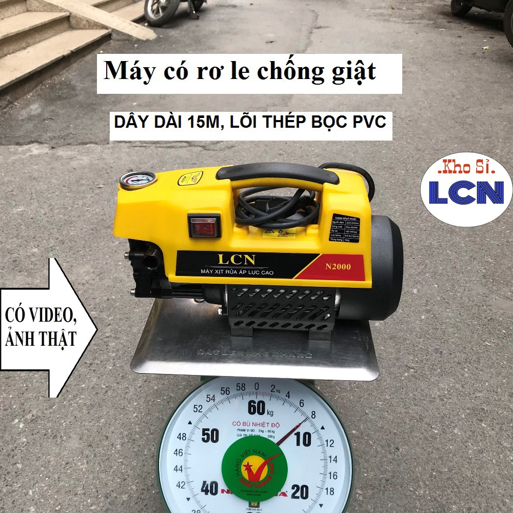 [SG] Máy Rửa Xe Mini LCN 💎FREESHIP3💎 Dây Đồng Hàng Loại 1 Chính Hãng