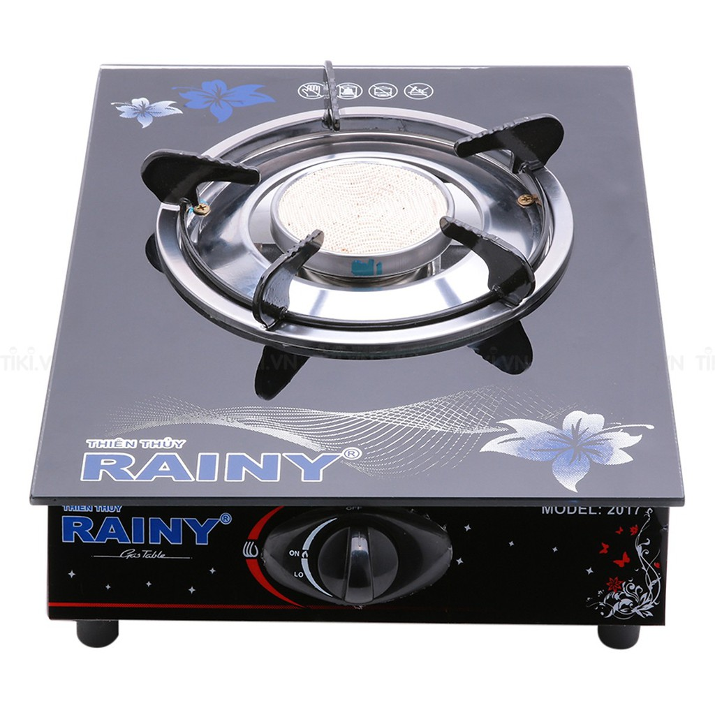 Bếp gas đơn hồng ngoại Rainy mặt kiếng cường lực ( hoa văn màu sắc ngẫu nhiên)- MSCLV