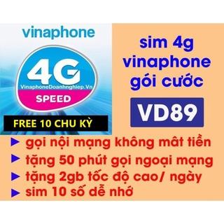 [ Nhập TVAN50K Giảm 50K ] Sim 4G Vina VD89 Trọn Gói 12 Tháng Không Cần Nạp Tiền