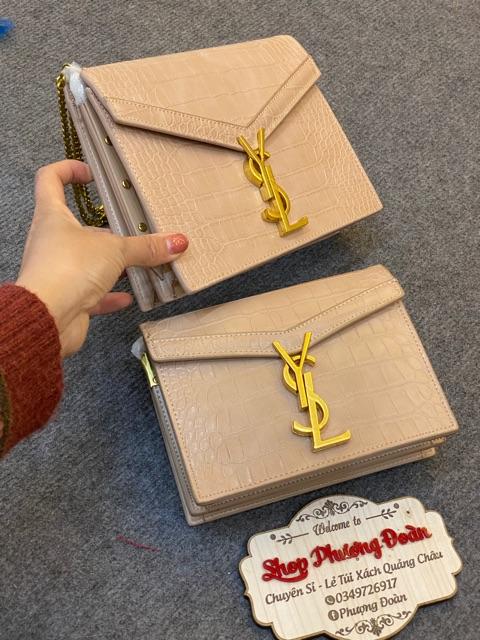 Túi da rắn Bì thư size 19-22 cm kèm hộp Bản Súp Pơ