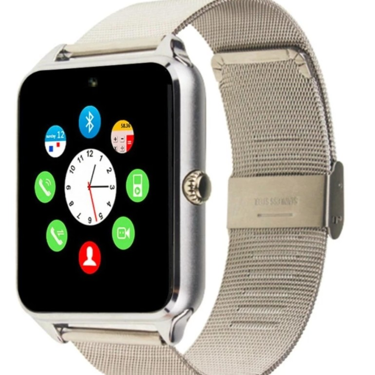 Đồng hồ thông minh Smart Watch dây thép ZV60 ( bạc)