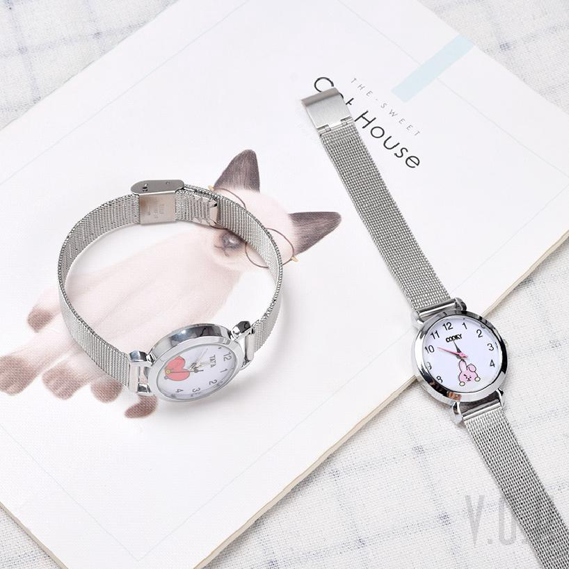 Đồng hồ điện tử đeo tay kiểu dáng Hàn Quốc dành cho fan hâm mộ nhóm nhạc BTS