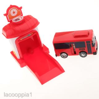 TAYO The Little Bus Shooting 4 Cars Set Garage Toy Children's Kids Gifts