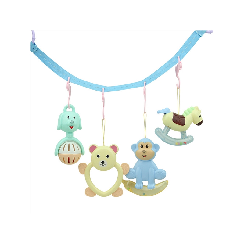 COD✌COD✌Animal music rotating bed bell baby rattle hanging bell