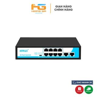 Bộ chia mạng (Switch) Poe Hrui HR900-AF-82N 8port POE + 2 Uplink thumbnail