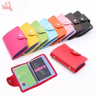 Q Fashion Credit Card Holder Men Women Travel Cards Wallet PU Leather Buckle Business ID Card Holders