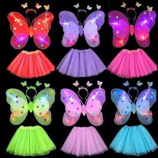Sỉ 10 bộ cánh bướm 3 lớp có đèn và váy ( khách buôn 100 bộ )