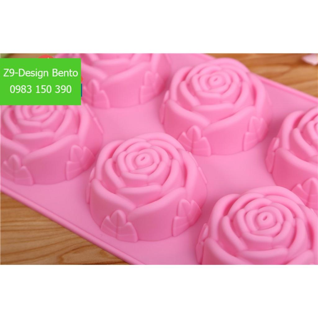 Khuôn silicon hoa hồng 12 ô