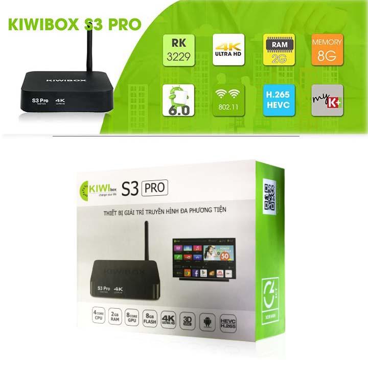 Tivi Box Kiwibox S3 Pro RAM 2GB Cấu Hình Mạnh Mẽ - 2679518 , 101697757 , 322_101697757 , 1550000 , Tivi-Box-Kiwibox-S3-Pro-RAM-2GB-Cau-Hinh-Manh-Me-322_101697757 , shopee.vn , Tivi Box Kiwibox S3 Pro RAM 2GB Cấu Hình Mạnh Mẽ
