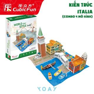 Bộ combo 4 kiến trúc nhà thế giới – Mô hình 3D CubicFun