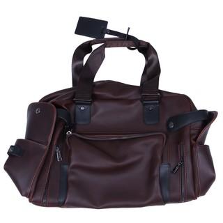ETONWEAG 1x brown PU leather men's handbag shoulder 40*30*15cm