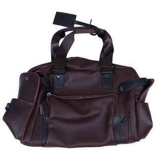 ETONWEAG 1x brown PU leather men's handbag shoulder 40*30*15cm