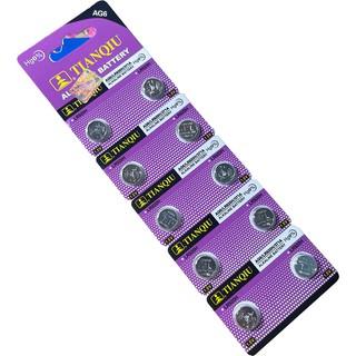 1 Vỉ 10 viên pin AG6 - LR920H- 371A đồng hồ đeo tay nam nữ TISSELLY loại cúc áo giá rẻ thay pin đồng hồ 6 kim thumbnail