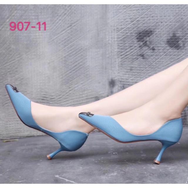 Giày QC màu đen-xanh