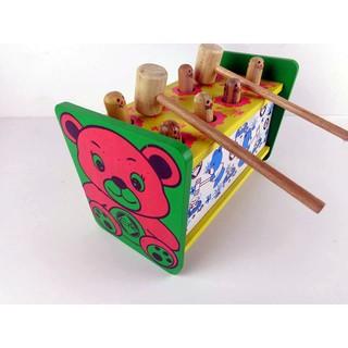 Bộ đồ chơi đập chuột bằng gỗ Etic