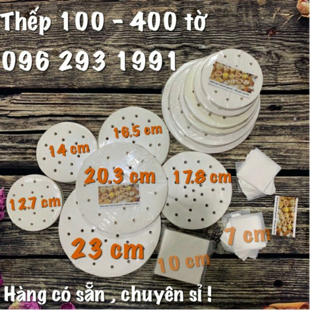 Giấy nến tròn đục lỗ set 100 tờ đến 400 tờ - dùng lót Xửng hấp và Nồi chiên không dầu ( sỉ sll inbox )