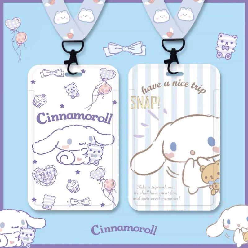 [Ảnh Thật] Dây đeo móc khoá bảng tên Sanrio Cinnamoroll Kuromi Hello Kitty My Melody Pompompurin Little Twin Stars