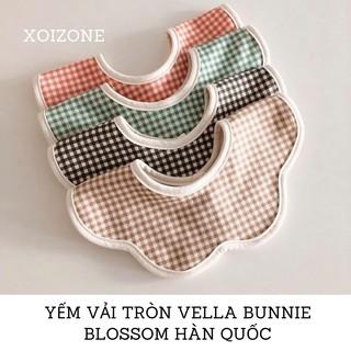 Yếm vải tròn Vella Bunnie Blossom Hàn Quốc cho bé 0-36 tháng