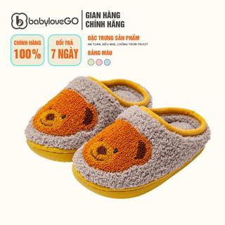 Dép sục bông trẻ em lót lông Cheerful Mario TL-8007 siêu mềm siêu nhẹ chống trơn trượt cho bé