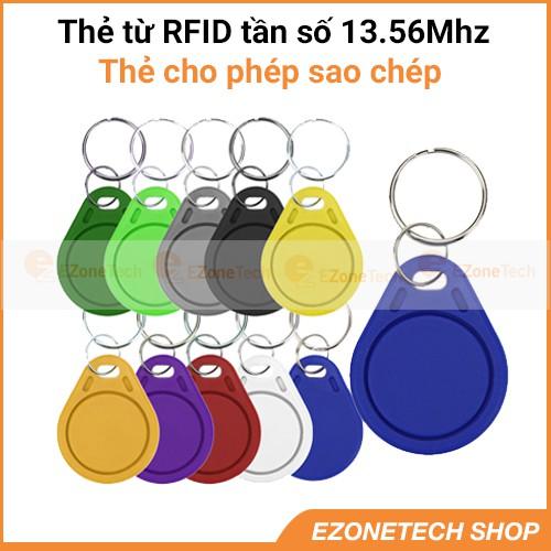 [Thẻ Dành Cho Sao Chép] Thẻ Từ RFID Tần Số 13,56Mhz Dạng Móc Khóa