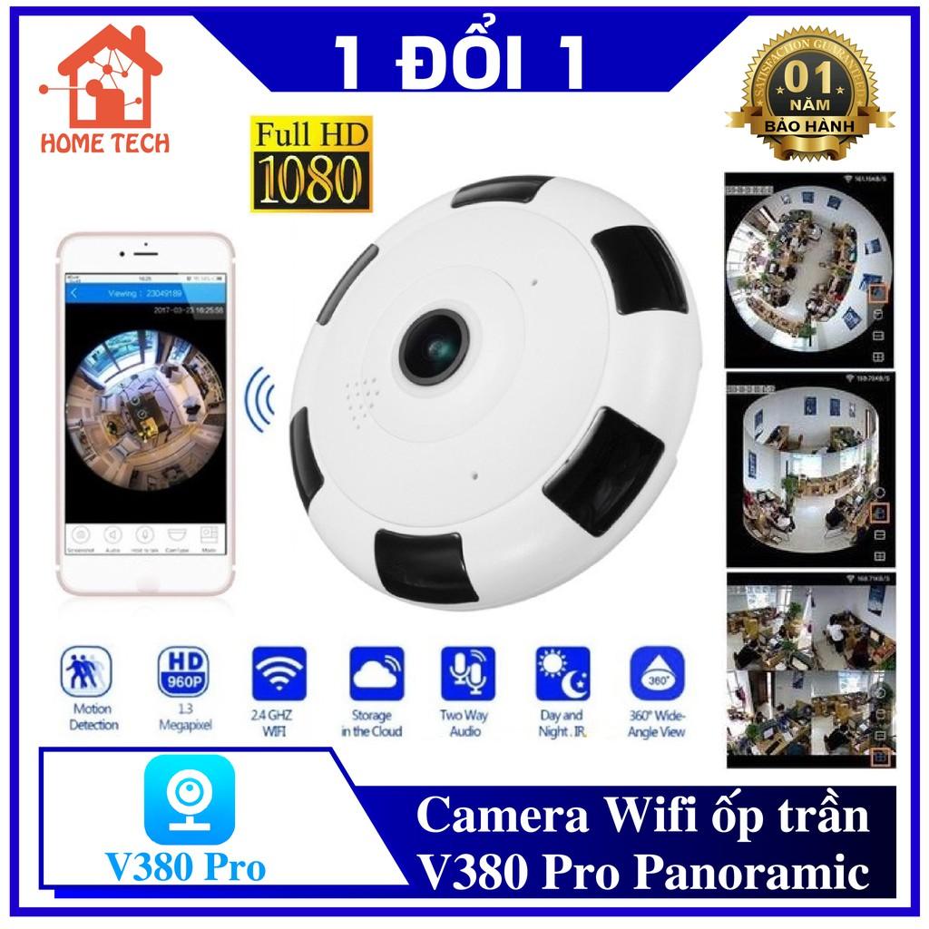 [KÈM THẺ NHỚ] Camera IP Wifi V380 Panoramic VR 360° Full HD Góc Quay Siêu Rộng - Camera ốp trần không dây, Xem toàn cảnh