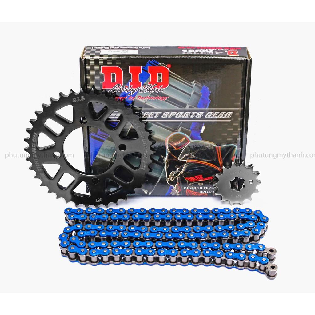 Nhông sên dĩa xe Exciter 135cc sên DID màu xanh HDS - 3392975 , 842969781 , 322_842969781 , 460000 , Nhong-sen-dia-xe-Exciter-135cc-sen-DID-mau-xanh-HDS-322_842969781 , shopee.vn , Nhông sên dĩa xe Exciter 135cc sên DID màu xanh HDS