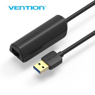 Cáp chuyển USB 2.0/3.0 to RJ45/LAN Vention, dài 15 cm hỗ trợ tốc độ 100/1000mbps