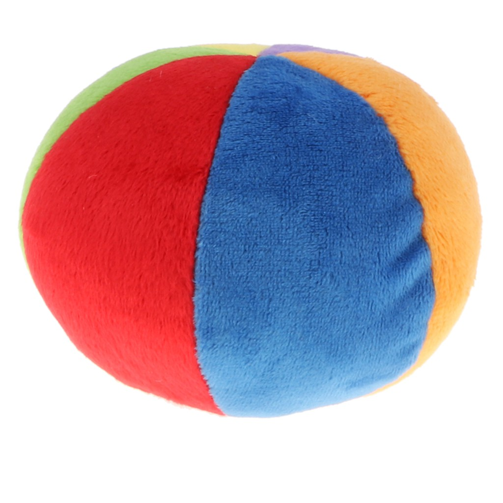 Bubble Shop61 Newborns Plush Bell Cloth Ball Kids Baby Hand Grab Soft Rattle Cloth Toy