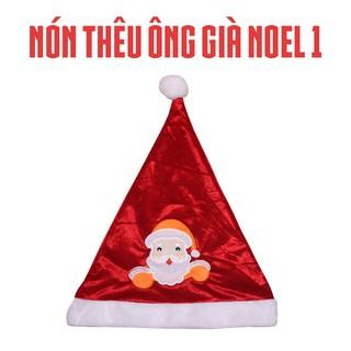 Mũ nón ông già Noel cho bé - Hóa trang lễ giáng sinh - Phụ kiện hóa trang Noel thumbnail