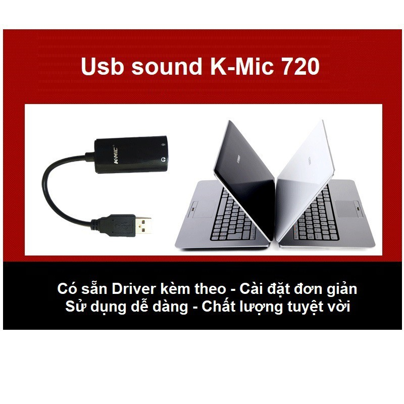 Usb sound card có dây cao cấp K-Mic 720
