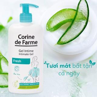 Gel vệ sinh phụ nữ Corine de Farme Intimate Gel Fresh 250ml Làm Sạch Và Khử Mùi Vùng Kín 4
