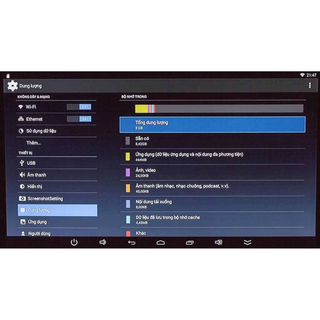 [Mã ELMS5 giảm 7% đơn 300K] Đầu Android Tivi Box Q9s - 02 Anten chuẩn - 1GB RAM