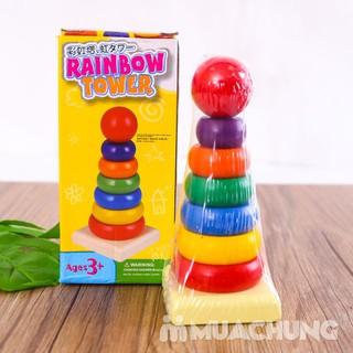 Đồ chơi giáo dục- Tháp gỗ nhiều màu loại nhỏ