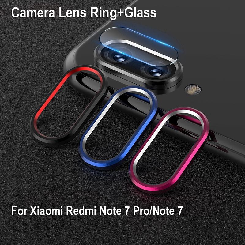 Viền kim loại + kính cường lực camera dành cho điện thoại Xiaomi RedMi Note 7/7 Pro