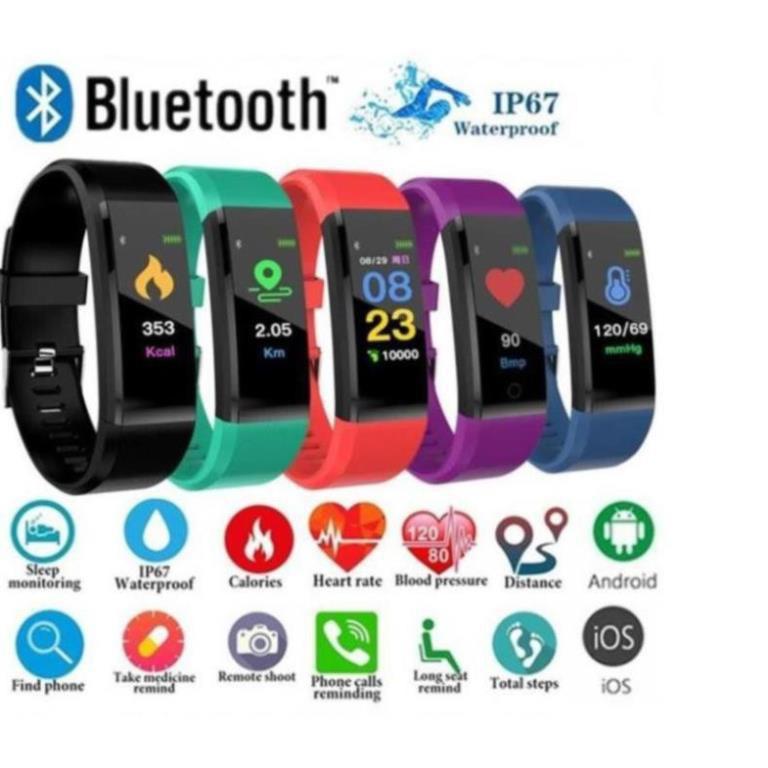 Đồng hồ thông minh 115PLUS thể thao có thể đo nhịp tim