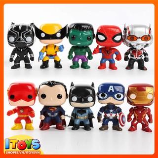 Đồ chơi trẻ em Avengers Funko Pop Iron Man, Batman, Spider-Man